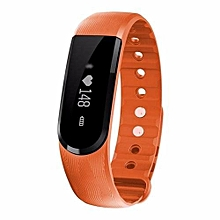 ID101 Smart Bracelet With Heart Rate Monitor Wristband Bluetooth Fitness Tracker(Orange)