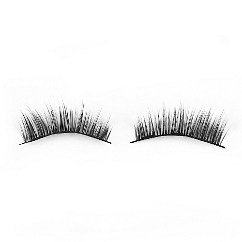 c8089f70716 Generic 1Set Triple Magnetic False Eyelashes Makeup Handmade Full Coverage  Magnet Eye Lashes Thick Long Fake Eyelashes Extension Make Up(Style 027)