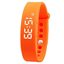 Smart Wrist Watch Wristband Bracelet w/ 3D Pedometer - Orange