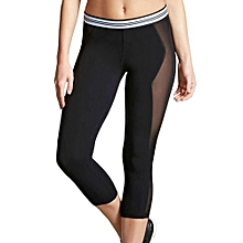 Women Sport Legging Yoga Gym Sport Elastic Force Calf-length Pants Slim Tight Trousers