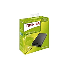 Toshiba 1TB Canvio Basics External Hard Drive - Black