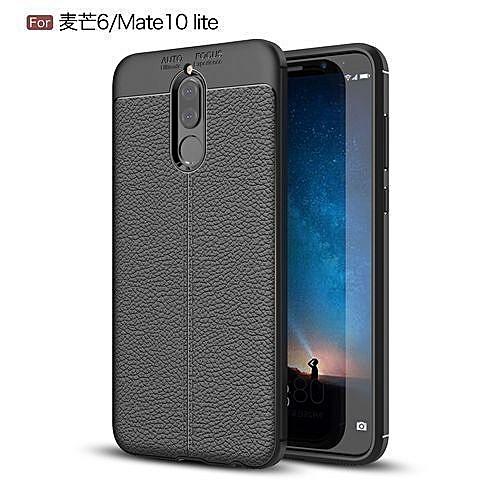 dbc247b8571 Generic Huawei Mate 10 Lite/Huawei Awn 6 Silicone Case, Litchi Pattern TPU  Anti-knock Phone Back Cover For Huawei Mate 10 Lite/Huawei Awn 6 - Black.