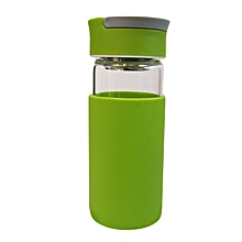 Glass Water Bottle - 370ml - Luminous Green