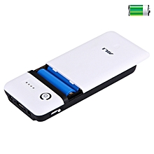 Portable 20400mAh 6 X 18650 Batteries Plastic Power Bank Shell Box With USB Output & Indicator Light, For IPhone, IPad, Samsung, LG, Sony Ericsson, MP4, PSP, Camera, Batteries Not Included(Random Color Delivery)