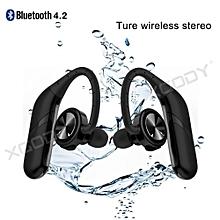 Bluetooth 4.2 True Wireless Earphones Waterproof Sports Stereo In-Ear Earbuds-black