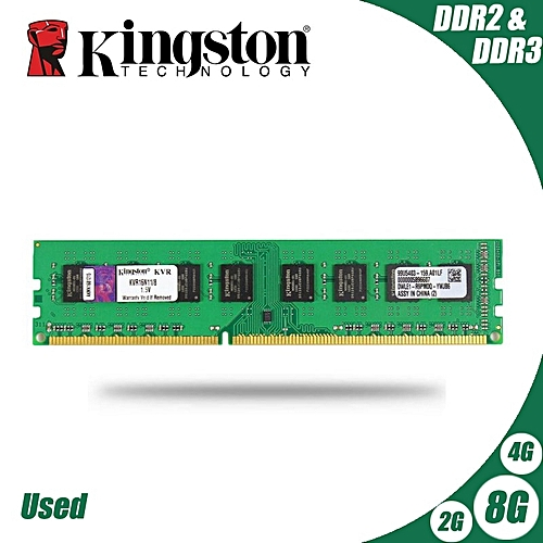 Used Desktop PC Memory RAM Memoria Module DDR2 800 667 MHz PC2 6400 8GB 4GB  2GB 1GB DDR3 1600 1333 PC3-10600 12800(Memory Capacity: DDR3 2G 1333 x