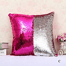 Africanmall store Double Color Glitter Sequins Throw Pillow Case Cafe Home Decor Cushion Covers -Multicolor