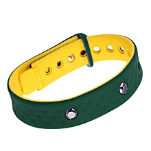 R2 Men Women Silicon Wristband Smart Bracelet USB Charging Data Health Sport green+yellow