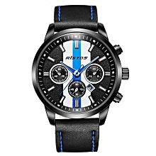 93018 Man Brand Sports Quartz Watches Casual Leather Wristwatch Male Extreme Deporte Military Fashion Watch - Blue