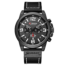 8314 Men Watch Quartz Brand Watch Wristwatch Calendar Hour Minute Time Display Leather Watch