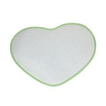 Bedroom Door Mat Heart Shaped Carpet Fluffy Chenille Rug Cushion Green
