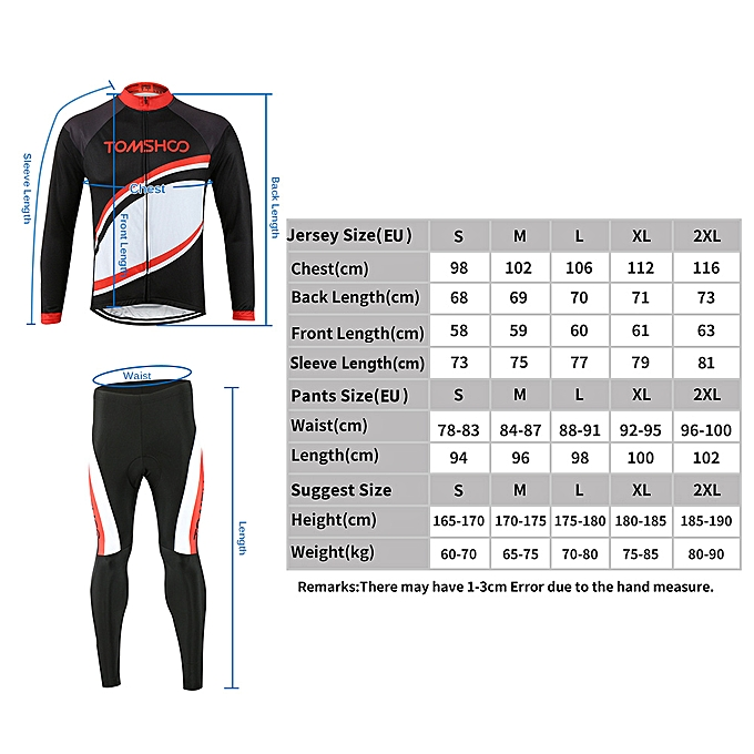 ... TOMSHOO Spring Autumn Men Cycling Clothing Set Sportswear Road Mountain  Bicycle Bike Outdoor Full Zip Long ... d862ca340