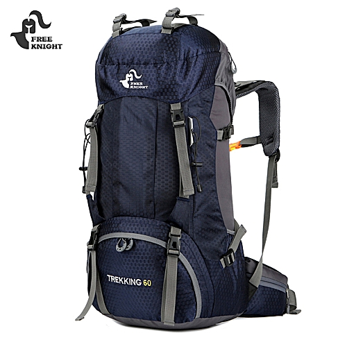 6fd560830e16 Free Knight FK0395 60L Water Resistant Climbing Hiking Backpack With Rain  Cover - Deep Blue