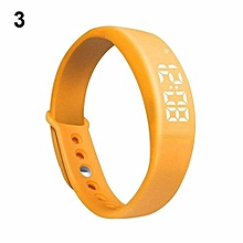 Smart Wrist Watch Pedometer W5 Steps Counter Calories Tracing Sports Bracelet-Orange