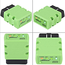 Car Diagnostic Scanner KW902 OBDII Car Scanner Diagnostic Tool Fault Detection Bluetooth 3.0 for Android Green LBQ