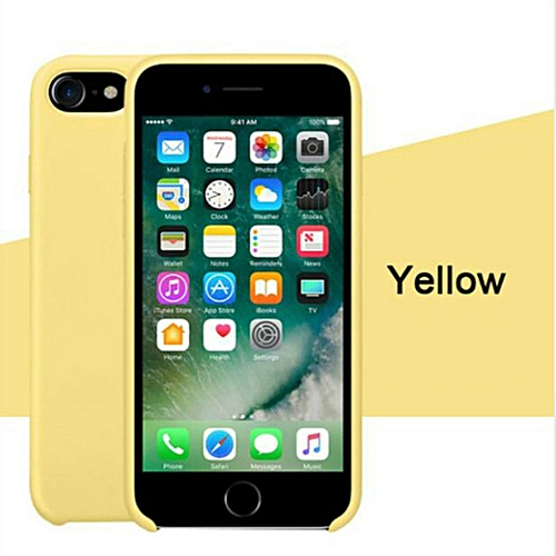check out e7148 4ea88 for iPhone 6 6S Plus phone case Have LOGO Official Style Silicone Case For  apple Cover Capa-Yellow
