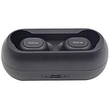 QCY T1C 5.0 Binaural Wireless Split Bluetooth Headset TWS5.0 - BLACK