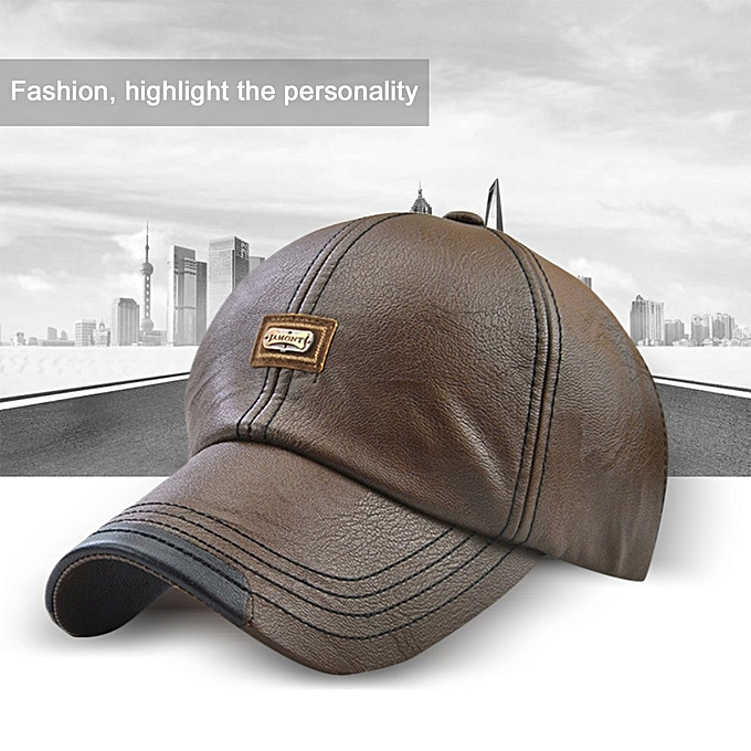 2060f4000bd6f Fashion JAMONT 12966 Soft Men Baseball Cap Male Hat Fashion PU ...