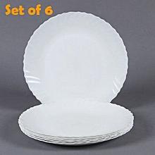 6Pcs Diva Classique Dinner Plates - Plain White