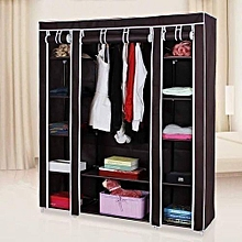 Portable Wardrobe  - 3 Columns - Chocolate Brown