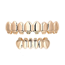 1 Set Gold Plated Hip Hop Teeth Grills Top & Bottom Grill Teeth Grills Fashion