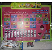 English Phonetic chart Plus free toy car and (4) AAA battery