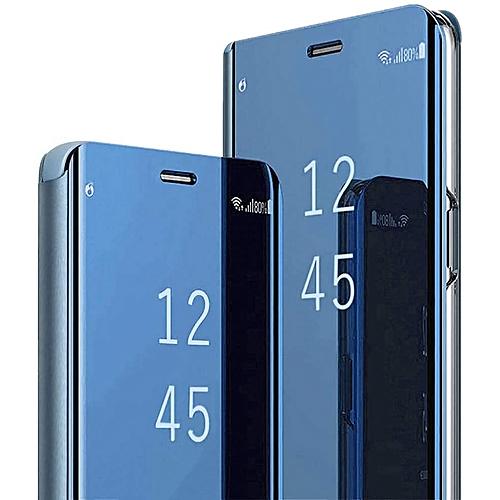 the best attitude d5cc2 60407 Huawei Y9 2019/Enjoy 9 Plus Plating Mirror Leather Case - Blue