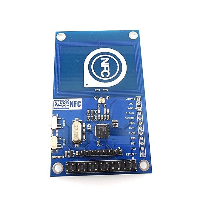 Portable NFC Reader Card Module HW-230 Arduino PN532 blue