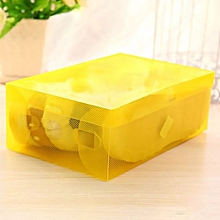 Colorful Transparent Shoe Box Flip Handy Foldable Home Storage-White