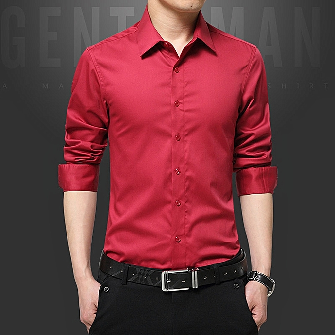 Tauntte Luxury Cotton Slim Fit Office Formal Shirts Men Business