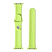 Three Festival Silicone Bracelet Strap Band For Apple Watch Series 1/2 38MM GN-Green
