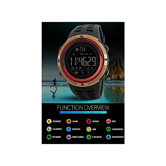... 2017 NEW Men's Smart Sport Watch New SKMEI Brand Bluetooth Calorie Pedometer Fashion Watches Men 50M