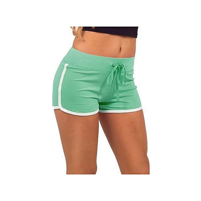 Cyber Summer Sport Casual Pants Women Drawstring Stretch Slim Mini Shorts  (Color c5) e207252365a