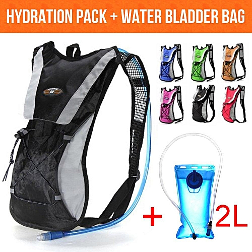 6302aa03d43 Generic Hydration Pack + 2L Water Bladder Bag Backpack Cycling Bicycle  Hiking Camping
