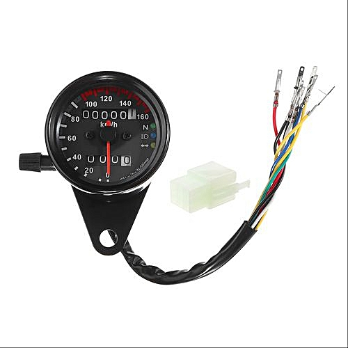 generic 12v dc dual led backlight night motorcycle speedometer odometer  readable speed meter gauge motorbike instrument for harley black