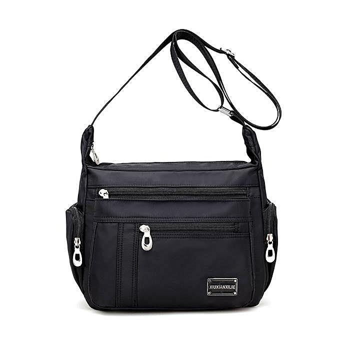 483c072bd3 Women Nylon Multi Pocket Lightweight Waterproof Shoulder Bag Crossbody Bag
