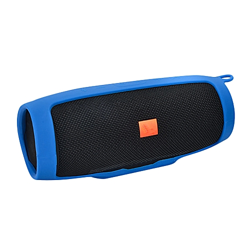 Speaker For  JBL charge3 Bluetooth Speaker Portable Mountaineering Silicone Case- Blue