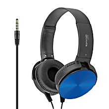 CHIME: Blue Premium Headset with Rotatable Ear-Cups, Built-in Microphone, HD Sound, 3.5mm Audio Jack and Anti-Tangle Wires