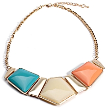 Women Stylish Spliced Necklace - Colorful