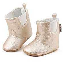 e7308b3671b7d Baby Girl Boy Soft Booties Snow Boots Infant Toddler Newborn Warming Shoes -Gold