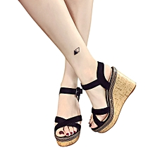 Generic Women Fish Mouth Platform High Heels Wedge Sandals Buckle Slope Sandals A1