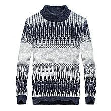 4e28a0b759 Men  039 s Leisure Turtleneck Sweater Pullover Winter Fashion Printing Long  Sleeve Warm Pullover