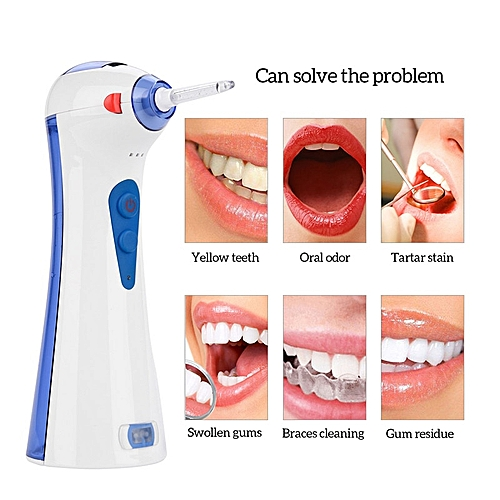 3 Modes Electric Oral Irrigator Dental Water Jet Flosser Teeth Whitening  Deep Cleaning Gums Massage Floss With 2 Nozzles P43( )