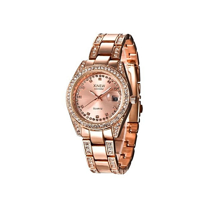 829f0d8f64f0 ... Fashion XINEW Ladies Women Girl Unisex Stainless Steel Date Quartz  Wrist Watch