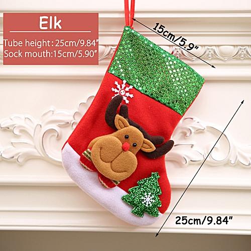 Personalised Christmas Decor Stocking Santa Tree Hanging Decoration Candy Bags