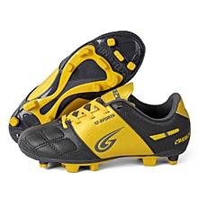 Zhenzu Outdoor Sporting Professional Training PU Children Football Shoes, EU Size: 32(Yellow)