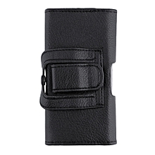 Litchi Pattern Clip Belt Holster Protective Case Cover for iPhone 5G/5S/5C Black
