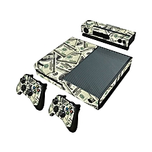 Carbon Fiber Vinyl Sticker Skin Wrap Cover Protector For XBOX ONE Console Controller Kinect - 100 Dollar Bill