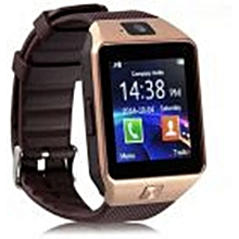 EliveBuyIND® Mirun Smart Watch Synthetic Band For Android & iOS,Gold - DZ09