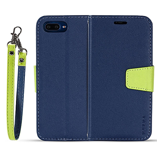 cheap for discount 8eceb 5ff55 For Huawei HONOR 10 flip case MUXMA flip card phone case two-color  anti-fall leather case-Blue